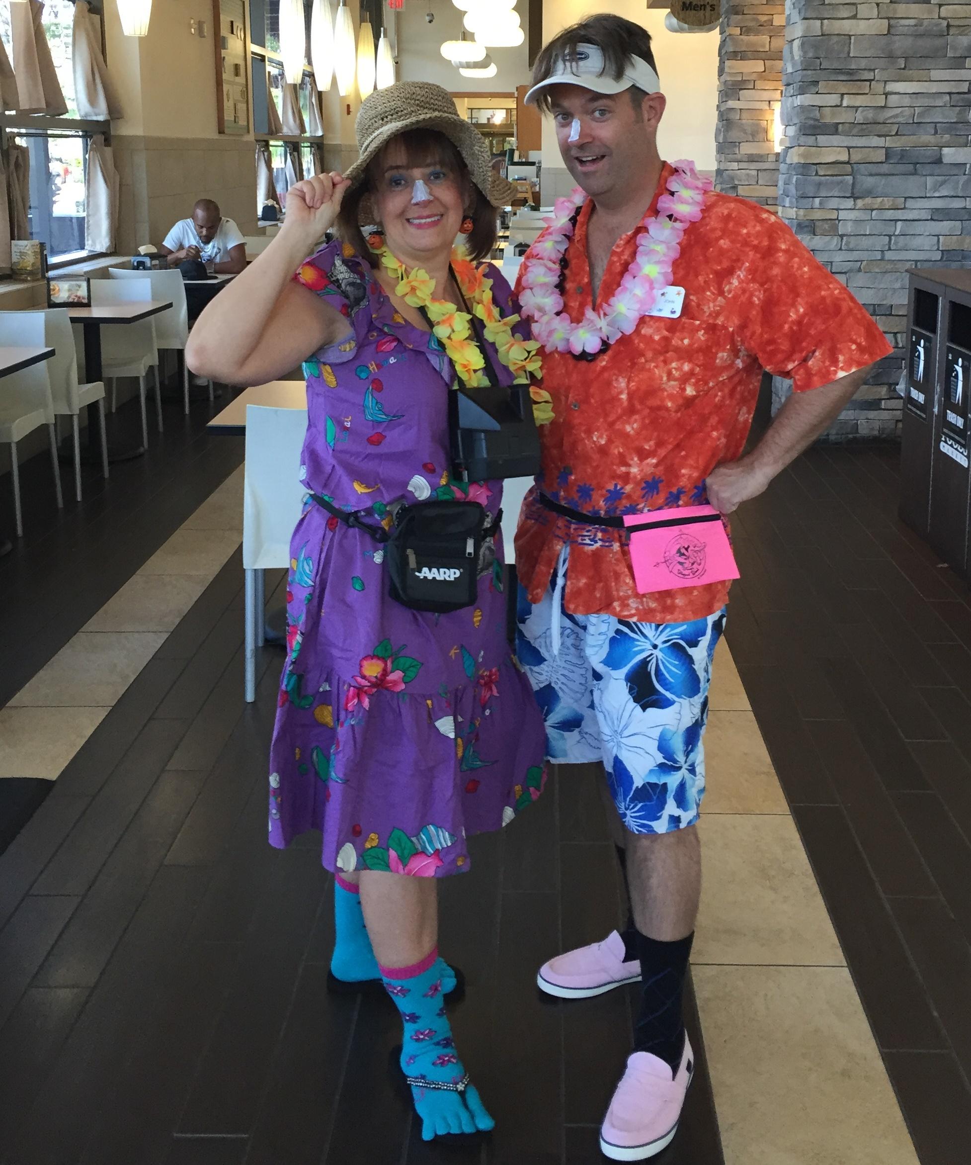 2015 Tacky Tourists Cathy & John
