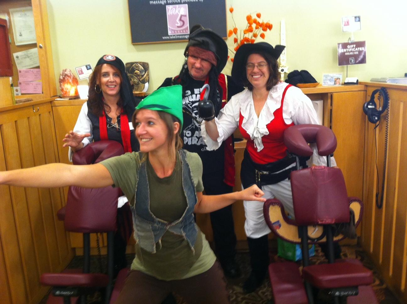 Pirates chasing Peter Pan