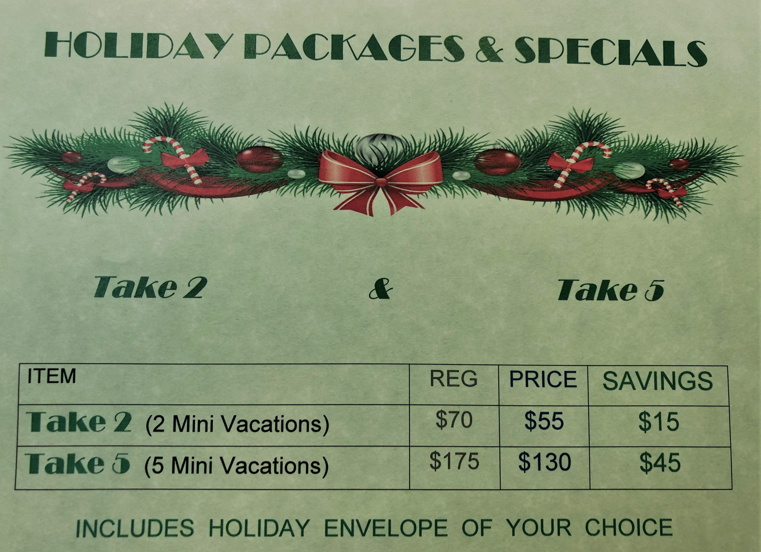 Holiday Special Packages 2020
